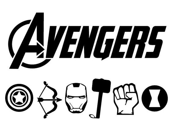 clip art free library Eps silhouette . Avengers svg.