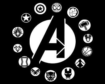 clip royalty free download Avengers svg. Etsy .