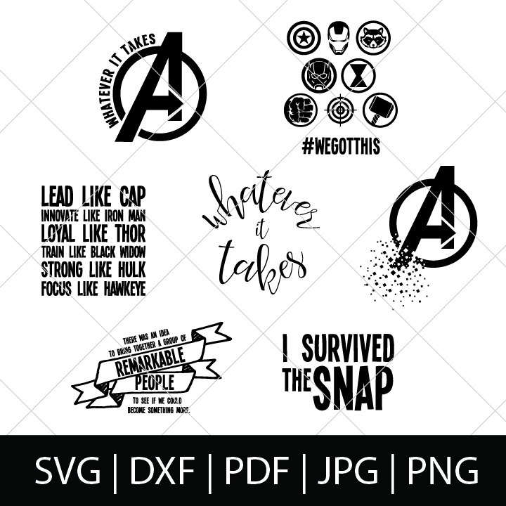 picture royalty free Bundle . Avengers svg.