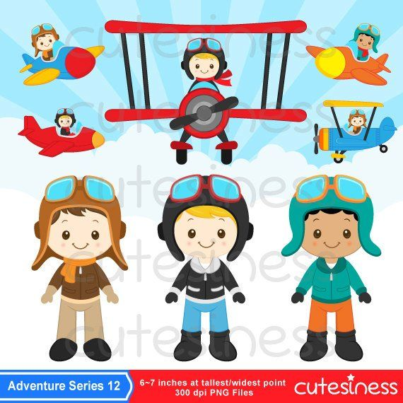 png library Pilot little airplane . Aviator clipart child.