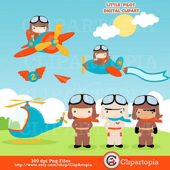 clipart download Digital clip art cute. Aviator clipart little pilot.