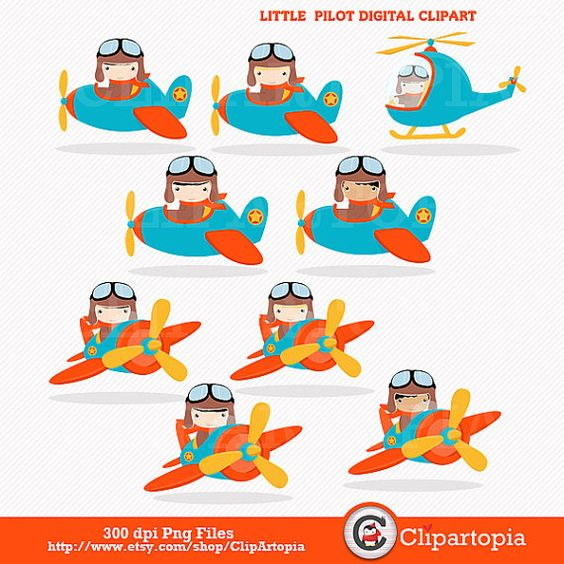 png freeuse download Digital clip art cute. Aviator clipart little pilot.