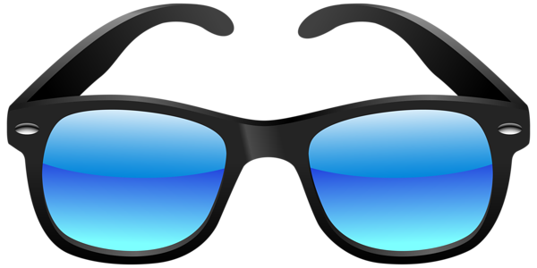 transparent download Black and blue png. Aviator clipart mirrored sunglasses.
