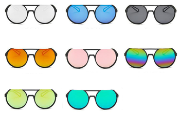 picture download Aviator clipart mirrored sunglasses. Flat top round frameless.