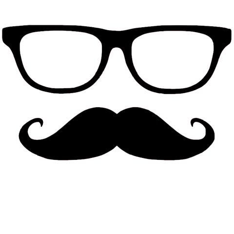 jpg royalty free library Beard clipart glass. Mustash mustache glasses vinyl