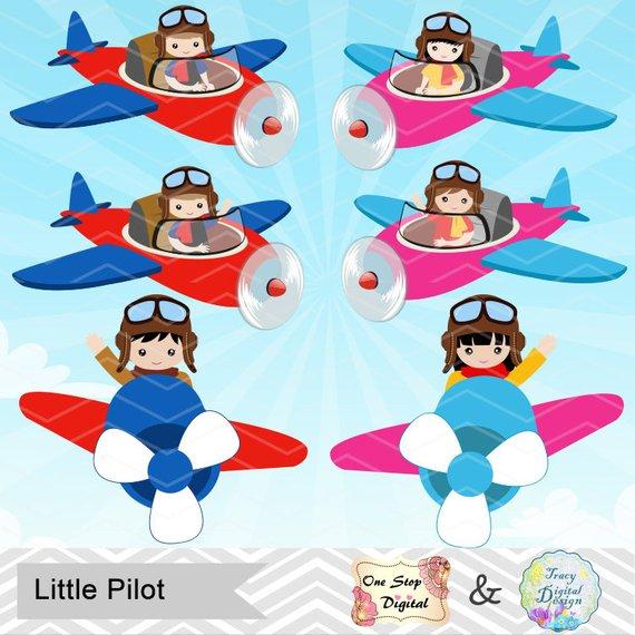 clip royalty free stock Digital little boy . Aviator clipart pilot girl.