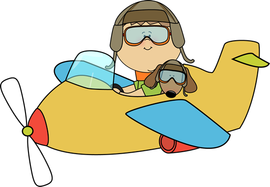 image freeuse download Aviator clipart pilot girl. Boy and dog flying.