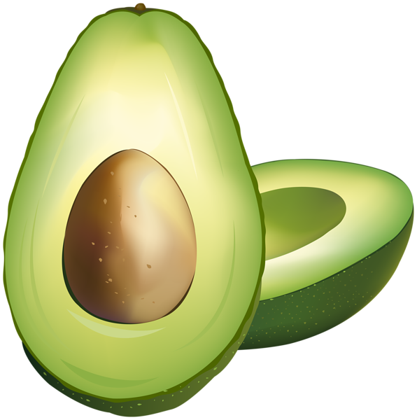 image royalty free download Png clip art gallery. Avocado clipart.