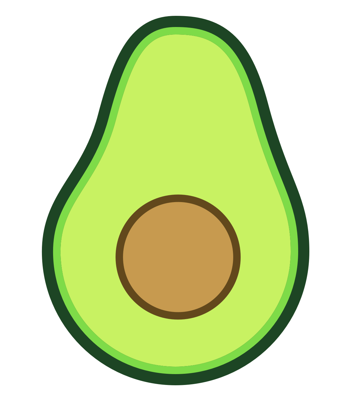 banner Avocado Clipart animated