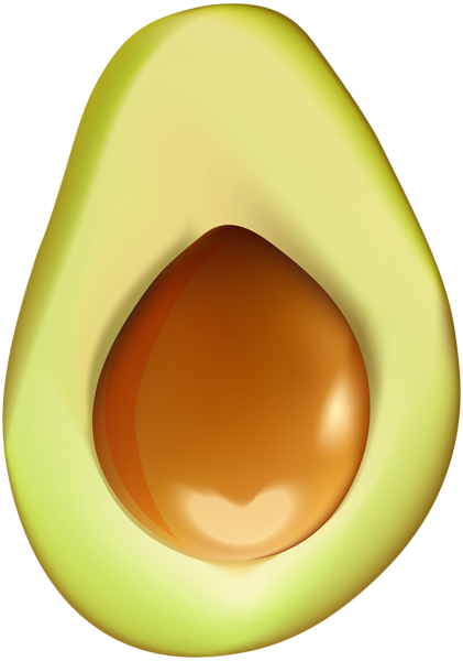 clipart royalty free library Avocado clipart png. Half clip art image.