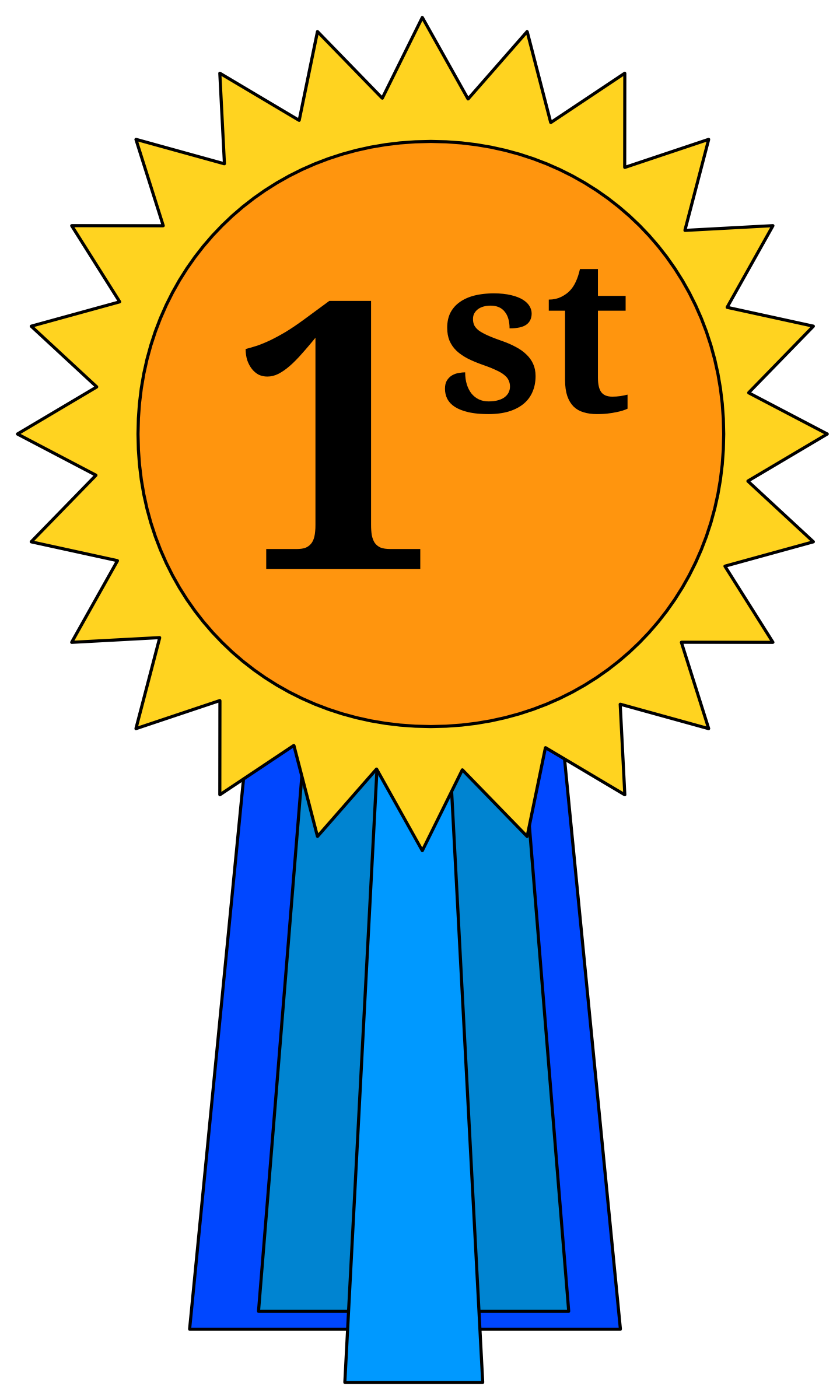 clipart free  nd place ribbon. Award clipart.