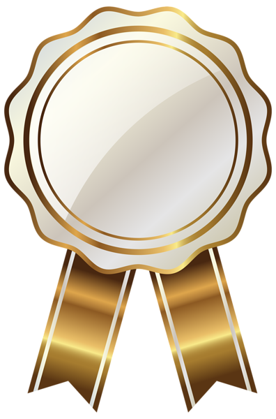 clip art free stock White seal with gold. Diploma clipart awards.