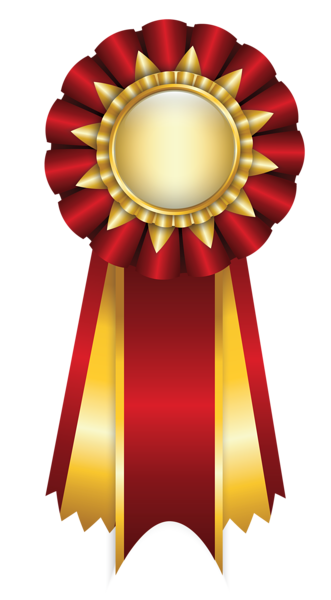 svg library library Red rosette ribbon png. Award clipart golden award.
