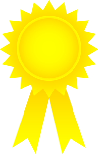 banner free Award clipart golden award. Gold ribbon physic minimalistics.