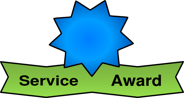 clip royalty free Awards clipart. Employee service