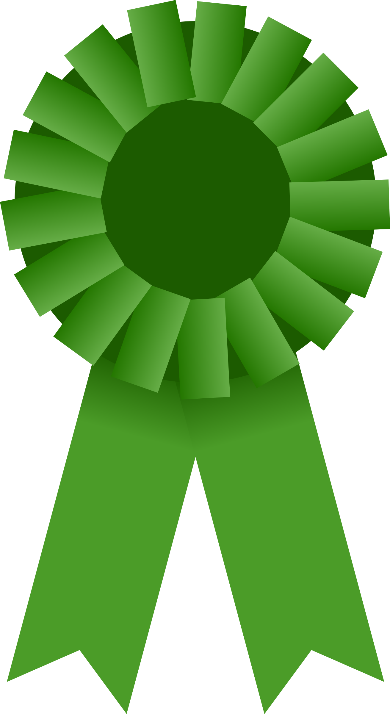 image free download Awards clipart. Award ribbon green big