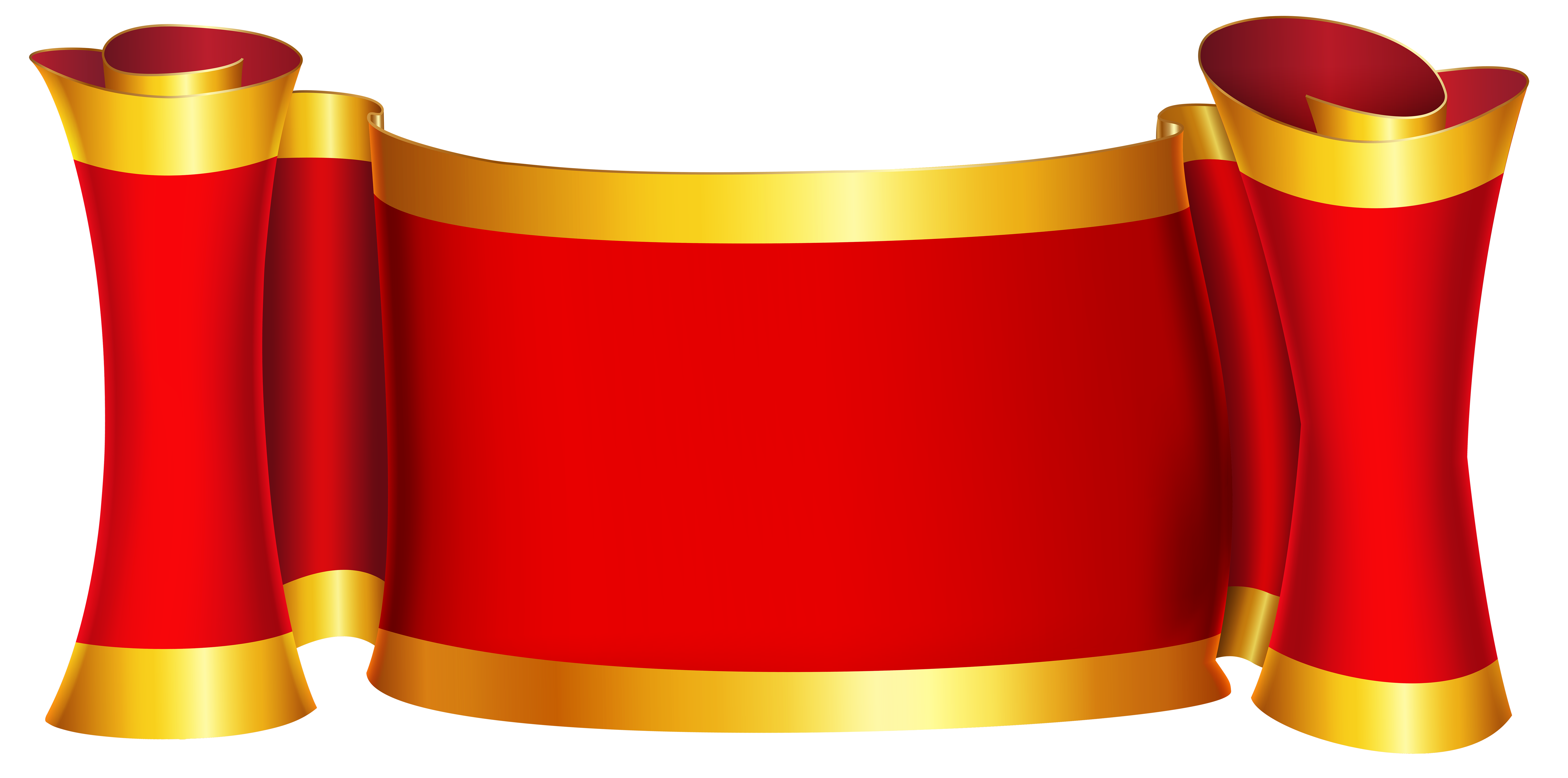 jpg freeuse stock Red gold png clip. Announcements clipart announcement banner