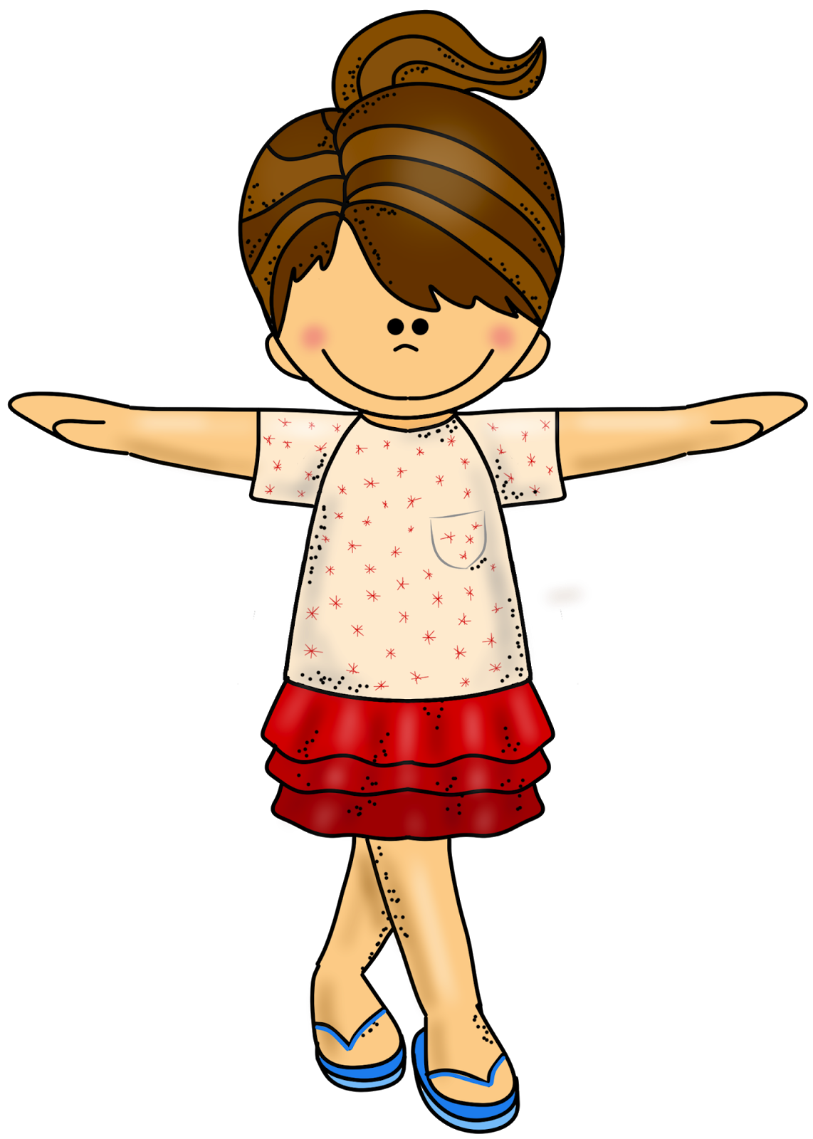 image royalty free library Awesome clipart happy person. She is .