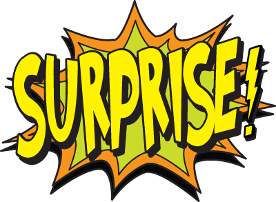 vector free download  big gaming surprises. Awesome clipart surprise word