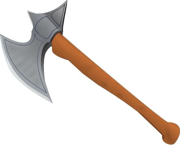 free library Stefanvonhalenbach medieval clip art. Hatchet vector battle axe