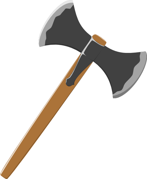 clip royalty free library Double axe clip art. Hatchet vector black and white