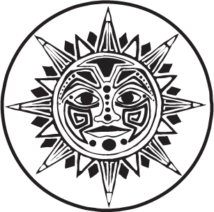 free library Aztec sun jedigems best. God clipart drawing