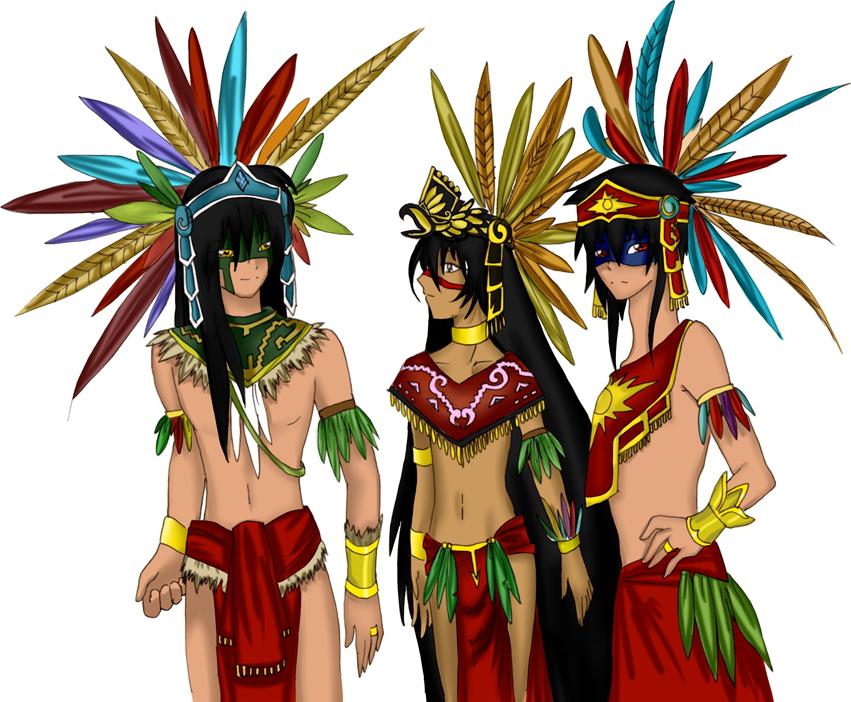 vector black and white stock Aztec clipart aztec princess. Aztecs by seiyaku on.