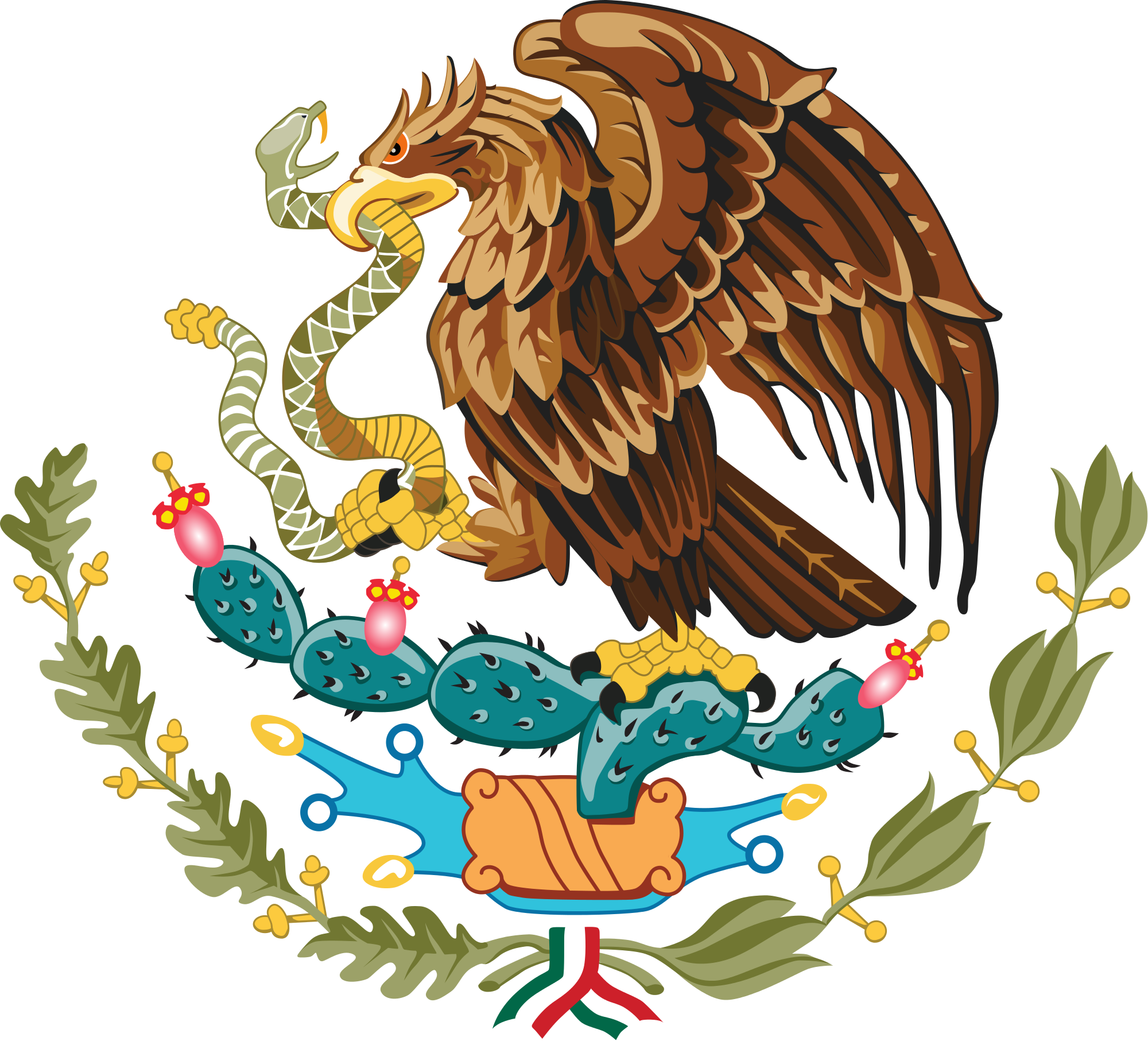 graphic transparent stock Coat of arms of Mexico