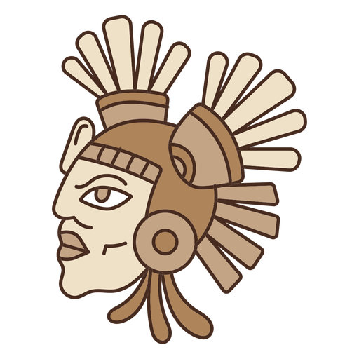 clipart black and white Head mask cartoon transparent. Vector color aztec