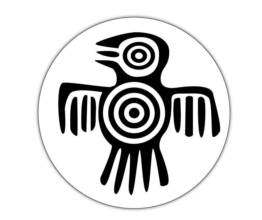 image black and white download Aztec Bird Symbol
