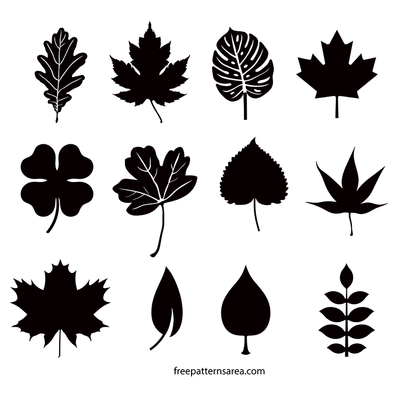 jpg library stock Leaf Silhouette Vectors and Cut Out Templates