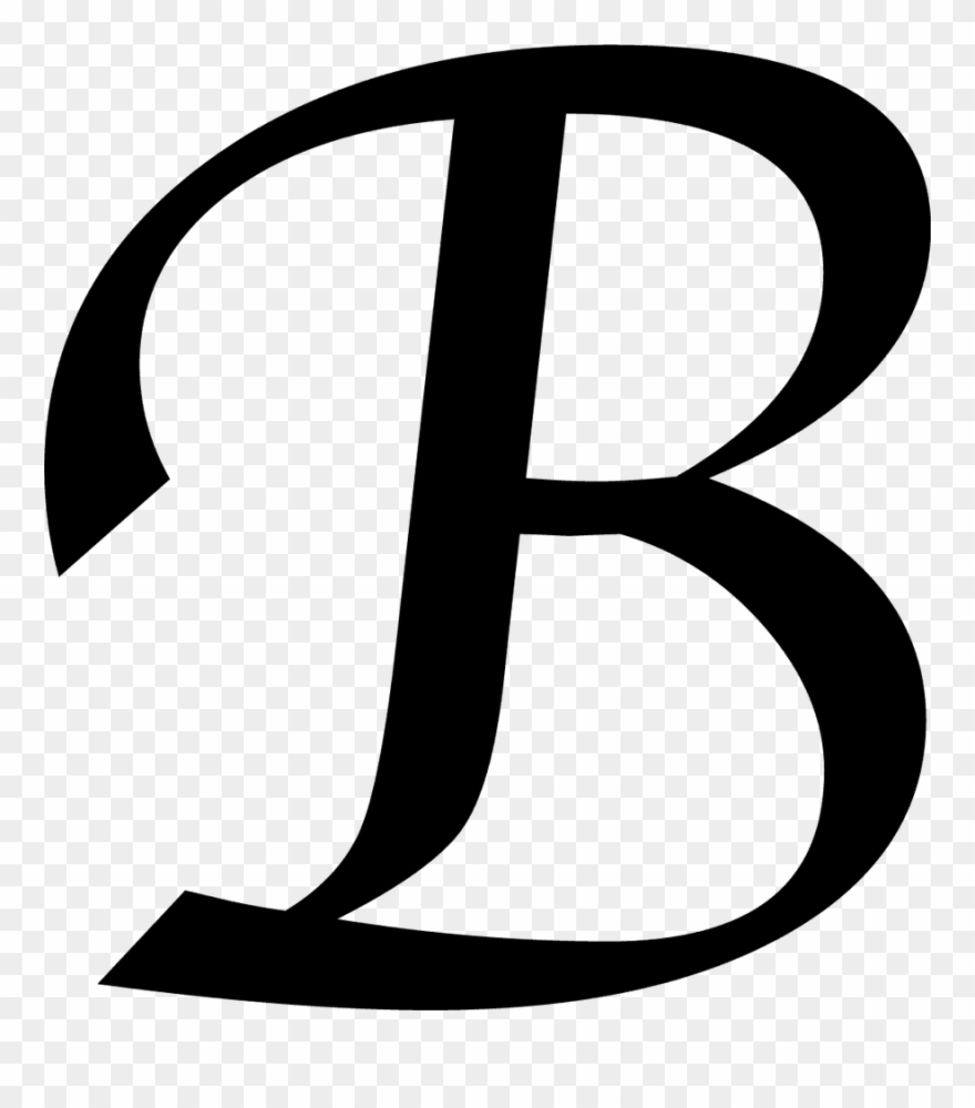 vector free B clipart. Letter png royalty free