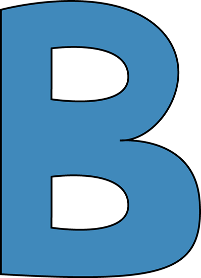 svg library download B clipart. Blue alphabet letter clip