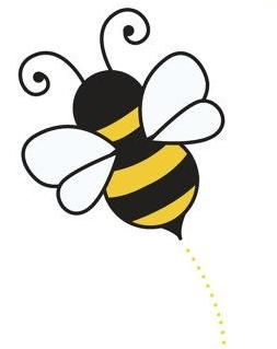 graphic free Bumble clipart small bee. Baby fever stencil painting