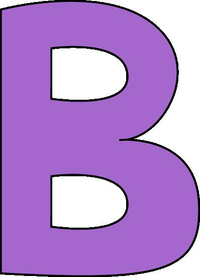 jpg royalty free stock Purple Letter B Clip Art Image