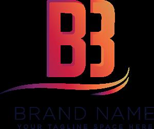 banner transparent download Letter logo eps free. B vector