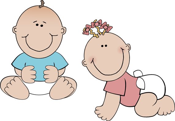 svg stock Twin baby . Babies clipart