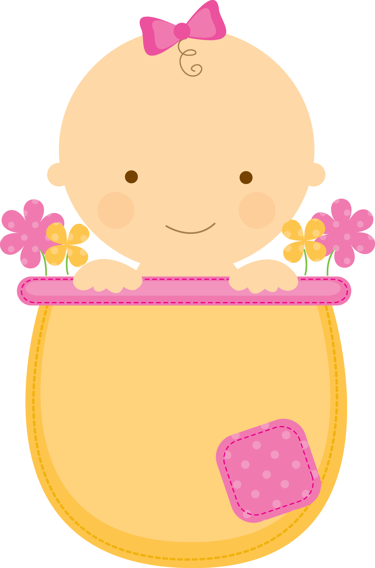 jpg library Babies clipart. Flowerpot babyinflowerpot pink yellow