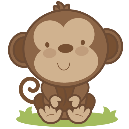 vector royalty free library Baby svg cutting file. Babies clipart monkey.