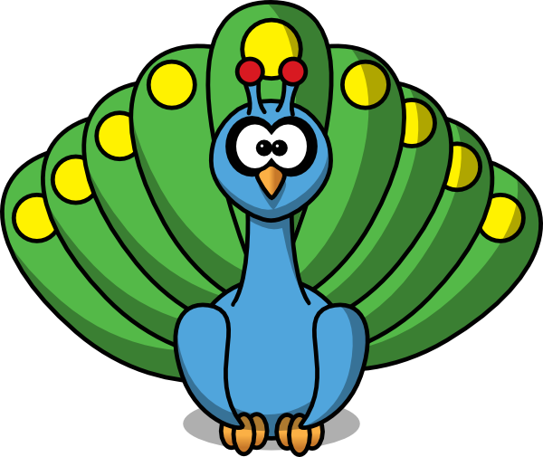 vector stock Drawing peacocks baby. Peacock cartoon at getdrawings