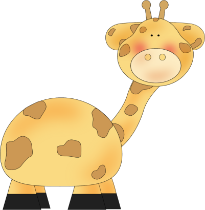 vector freeuse library Babies clipart wild animal. Giraffe swinging clip art.