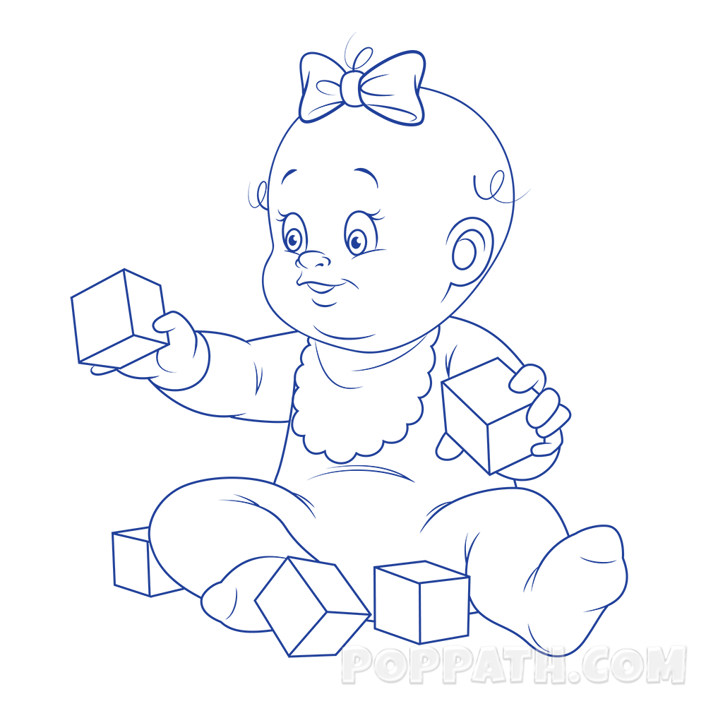 picture download Baby crawling at getdrawings. Drawing toy child