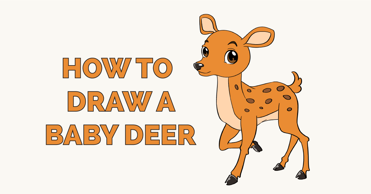 banner library download How to draw a. Drawing deer baby