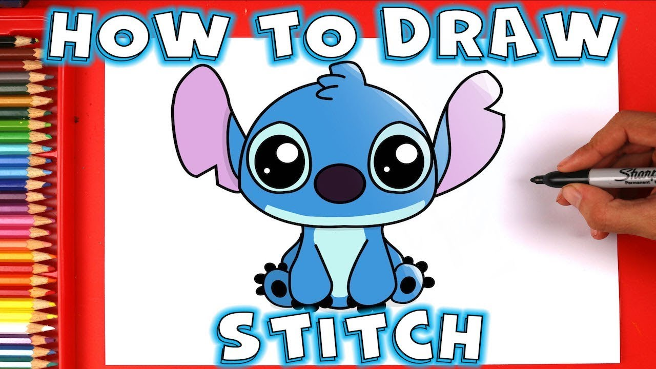 svg freeuse stock Drawing stitch cute. How to draw from