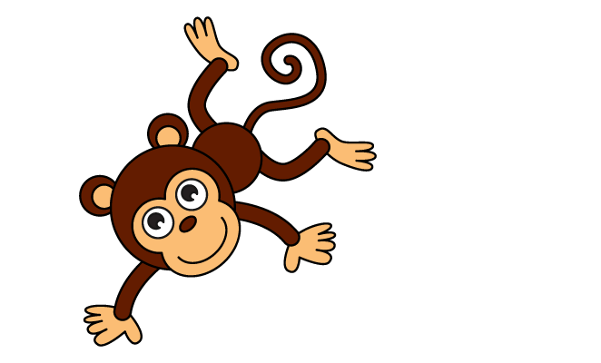 clip black and white stock Collection of free Monkey drawing