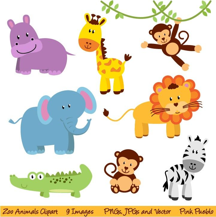 png free library Zoo and jungle animals. Baby animal clipart