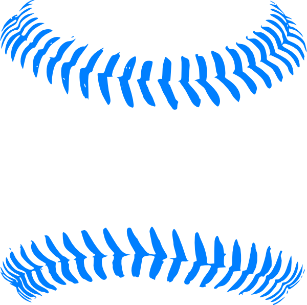 banner library Baseball clip stitching. Baby blue stitch art