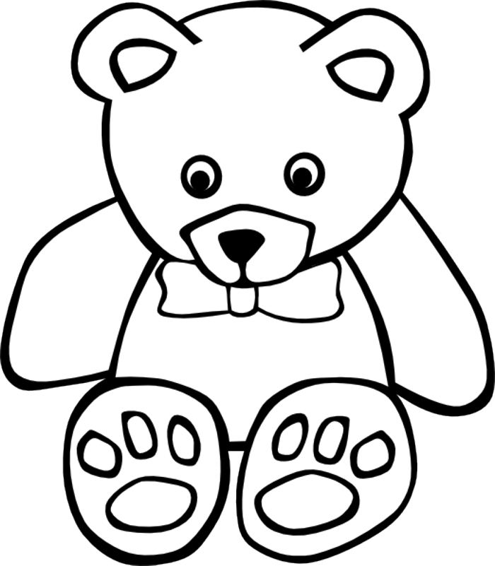svg transparent library Baby bear clipart black and white. Free download clip