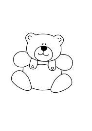 stock Teddy clip art google. Baby bear clipart black and white