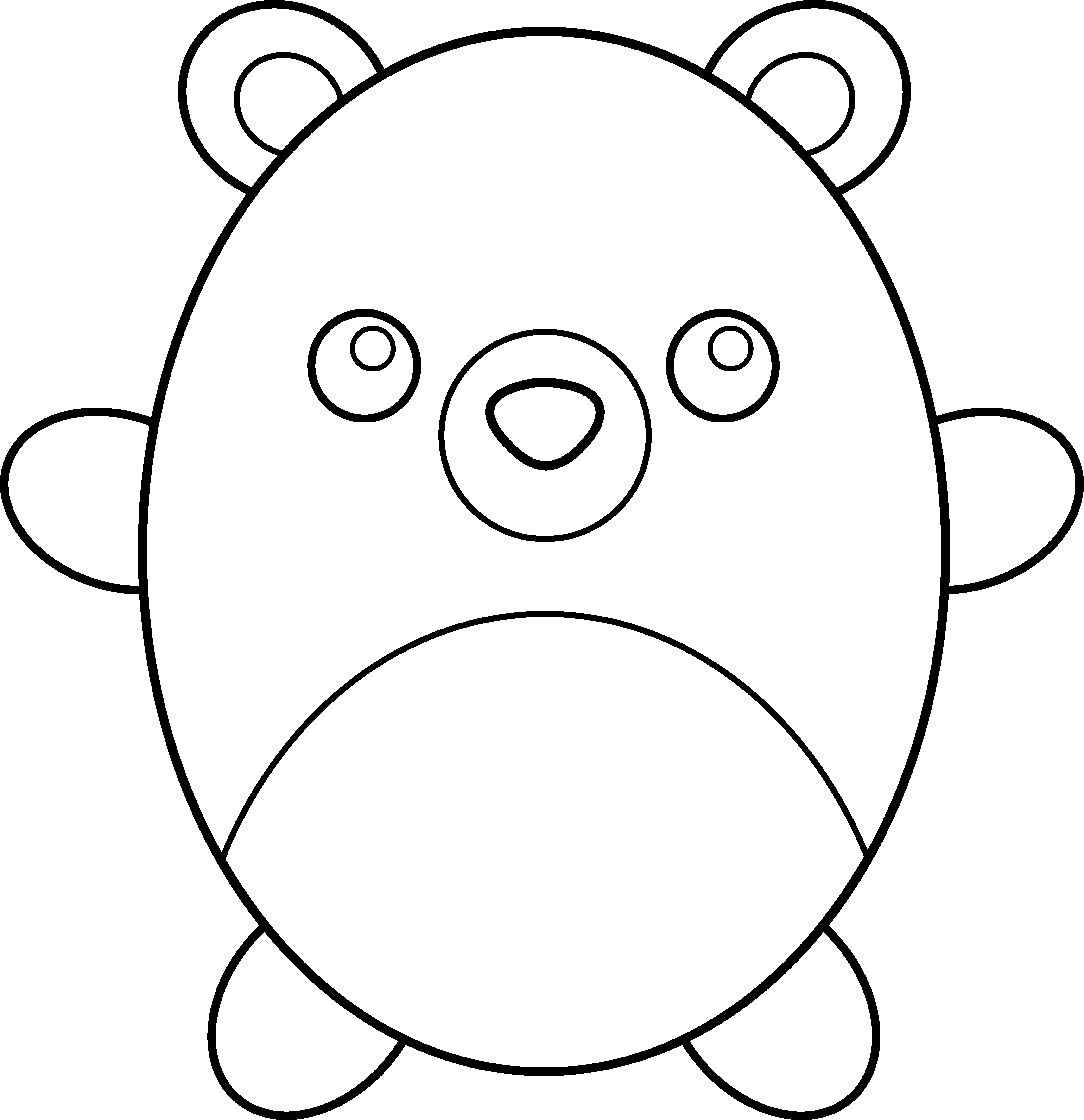 clipart royalty free Cute panda free images. Baby bear clipart black and white